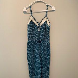 Forever 21 Blue Floral Jumpsuit
